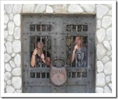 Kids in olden-days prison