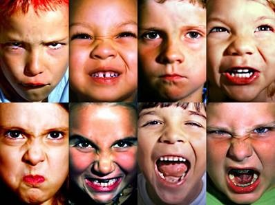 Kids making faces