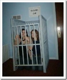 Girls in cage