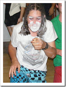 Flour-faced teen
