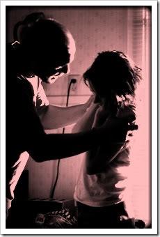 Man abusing child