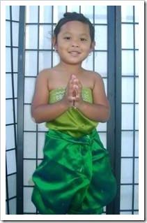 Thai girl showing respect