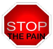 Stop the pain (sign)