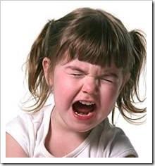 Girl throwing a temper tantrum