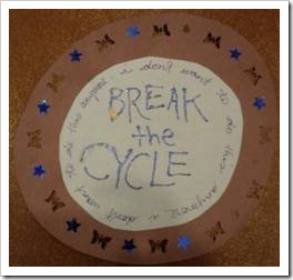 Break the cycle anti-bullying sign