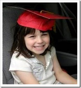 Girl in graduation hat
