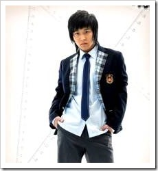 Teenage boy in school uniform