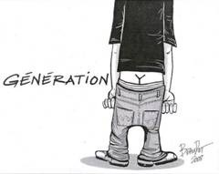 Generation Y caricature