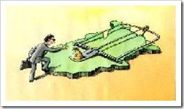 Man approaching a big mouse trap