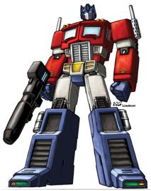 Optimus Prime transformer toy