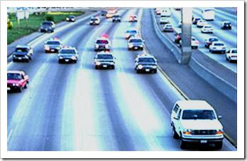 Police chasing white Bronco