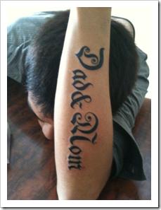 Dad and Mom tatoo