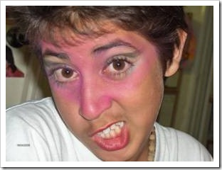 Funny boy with makeup