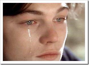 Leonardo DiCaprio crying