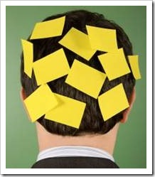 Head with sticky note