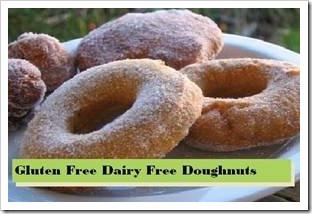 Gluten free dairy free doughnuts