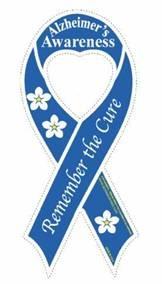 Alzheimer's awareness ribbon