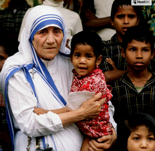 Mother Teresa with kids