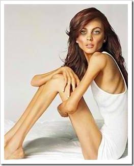 Anorexic image of Lindsay Lohan