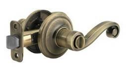 A door handle and lock