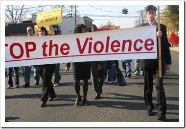 Stop the violence parade