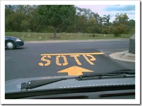 SOTP written on the road