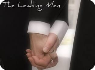 Men holding hands