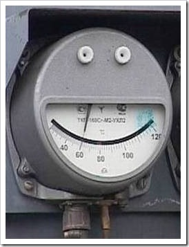 Industrial scales looking like a smile