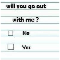Yes/No Question: will you go out with me?