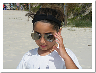 Girl with cool sunglasses