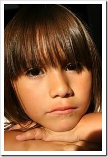 Child looking sick