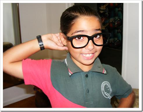 Girl posing in glasses