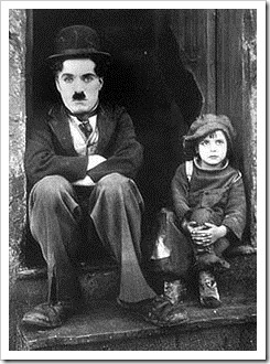 Charlie Chaplin and child