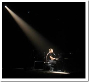 Lone pianist in limelight