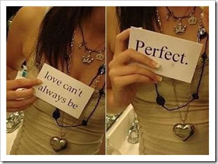 Love can't always be perfect