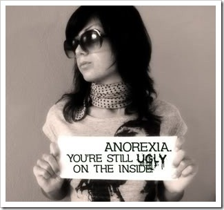 Girl with anorexia poster