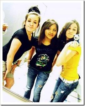 Teen girls posing