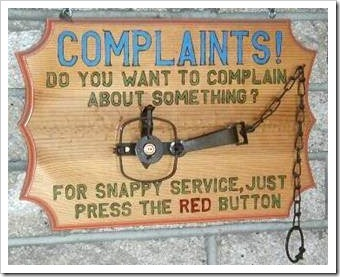 Practical joke about complaints