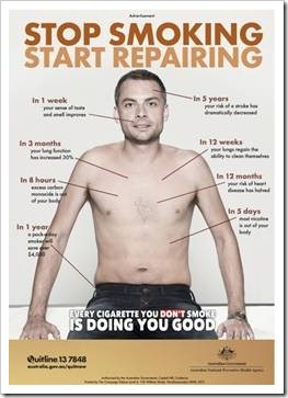 Anti-smoking campaign poster