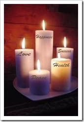Candles of love, happiness, success and health