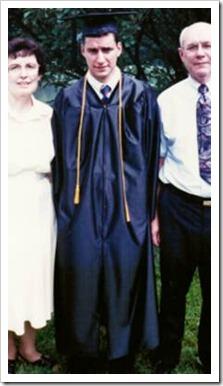 Graduating student and parents
