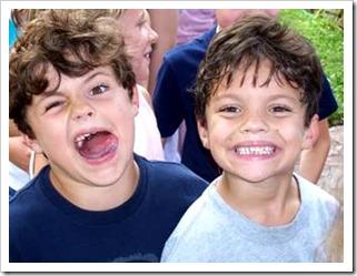 2 boys posing