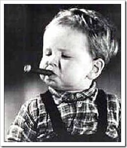 Toddler with cigar