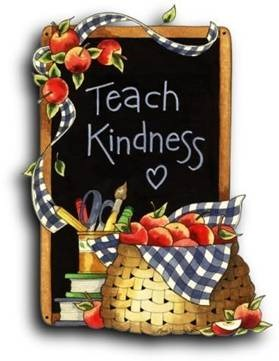 """Teach Kindness"" written on a blackboard"