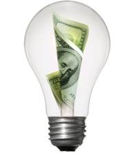 Lighbulb with dollar inside