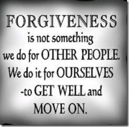 Forgiveness is not something we do for other people. We do it for ourselves - to get well and move on