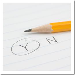 Y, N and pencil