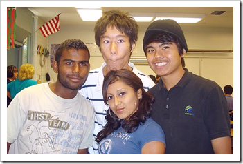 Indian and Asian students in an American university