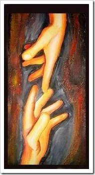 Painting of Michaelangelo's Hand of God