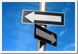 Arrow left and arrow right